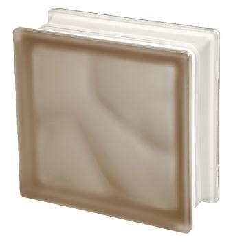 Pustak szklany luksfer 1919/8 Wave Brown Sahara E 60 Seves Basic
