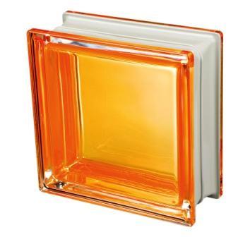 Pustak szklany luksfer Q19 Orange Met Seves Design