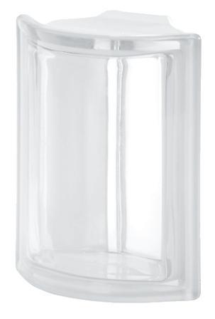Pustak szklany luksfer Angolare Neutro T Seves Design